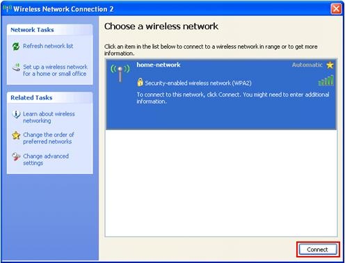 Available Wireless Network
