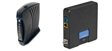Cable modem can be used to connect to wired or wireless router