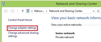 change network to private windows 8