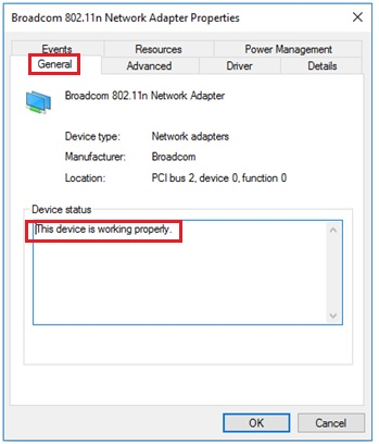 check wireless adapter driver