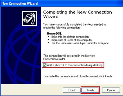 complete PPPoE configuration in Windows XP