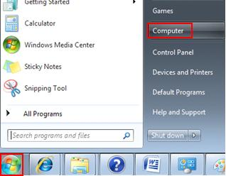 access computer folder in win7