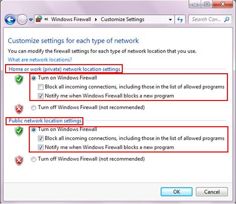 customize windows firewall