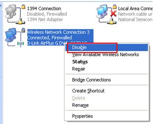Disable Wireless