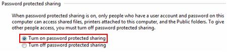 enable password protected file sharing in Win7