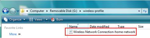 Exported Wireless Profile
