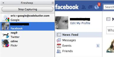 firesheep to hijack Facebook or Twitter session