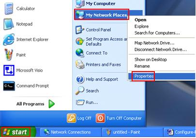my network places in Windows XP