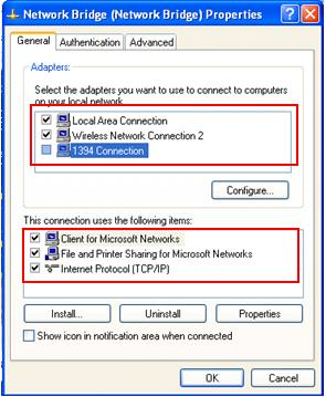 how to create a bridge connection windows 10