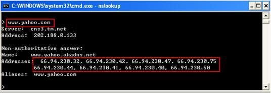 how to get network information from command line windows