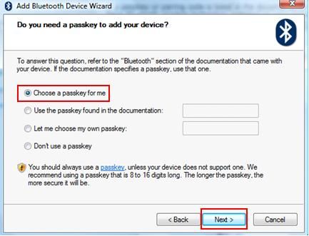passkey for bluetooth devices