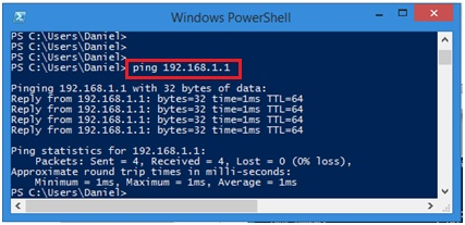ping computer or gateway in PowerShell