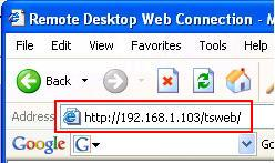 Remote Desktop Web URL