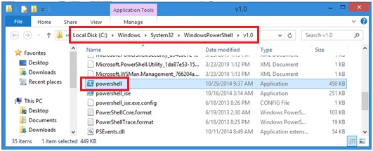 run PowerShell exec file