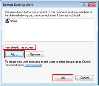 select users for remote desktop