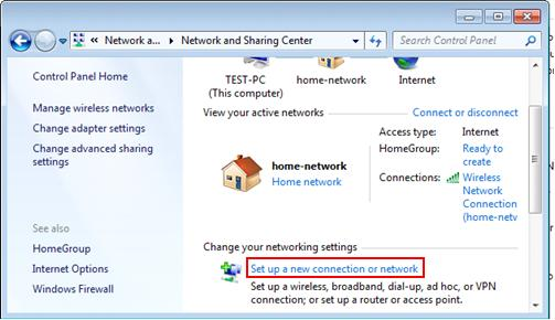 set up VPN client in Windows 7