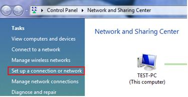 Set Up a Connection or Network for PPTP VPN