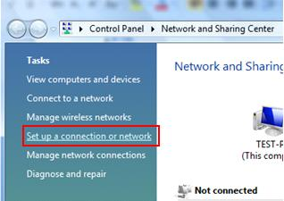PPPoE DSL/Cable - set up a connection or network in Windows Vista
