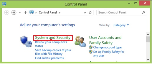 system and security windows 8