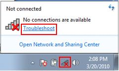 Windows 7 - troubleshoot network