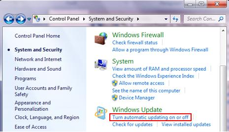 turn automatic updating on or off