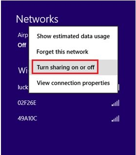 how to change windows 8 network profile