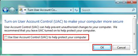 Use User Account Control UAC