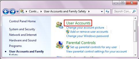 user accounts management