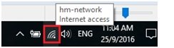 visible connected wifi network