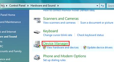 Vista Device Manager