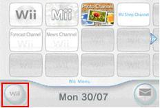 Wii Button of Wii Console