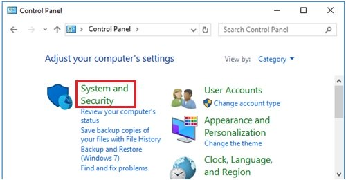 Windows 10 sysetm and security