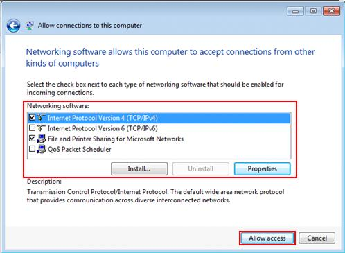 Windows 7 - allow PPTP VPN connections to this computer