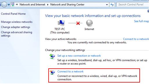 Connect to a Windows 7 wireless network