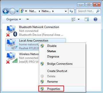 Windows 7 Internet connection Sharing (ICS) Host Computer Setup