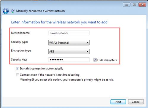 windows 7 networking wireless settings on wireless adapter