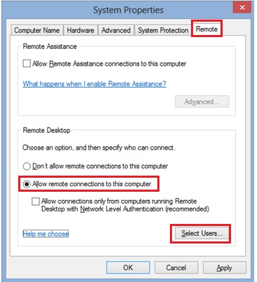 Windows 8 enable remote desktop