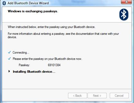 windows is exchanging passkeys