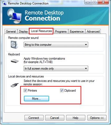 Windows Vista SP1 remote desktop sharing